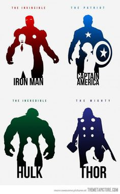 The Avengers: Superhero Silhouettes