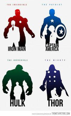 The Avengers:SuperheroSilhouettes