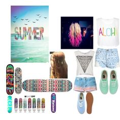 """""""summer"""" by chellebritton on Polyvore Skateboard, Ann, Polyvore, Summer, Blue, Painting, Image, Design, Fashion"""