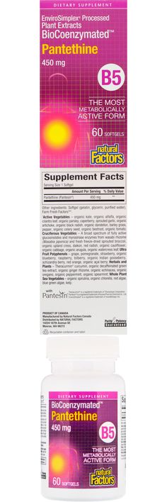 Dietary Supplement EnviroSimplex Processed Plant Extracts The Most Metabolically Active Form With Pantesin Purity & Potency Guaranteed What Does Coenzymated Mean? In order for B vitamins to be utilized effectively by the body, they must be converted into their metabolically active coenzyme forms. For example, the coenzyme form of pantothenic acid is pantethine. A coenzyme is a naturally occurring compound Ginger Rhizome, Barley Grass, Sea Vegetables, Organic Blueberries, Green Algae, Pantothenic Acid, Good Manufacturing Practice, Trying To Conceive, Green Tea Extract