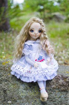 Купить Алиса в стране чудес - голубой, алиса в стране чудес, алиса, алиса в зазеркалье