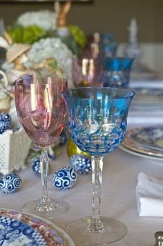 Love the glasses, perfect table setting