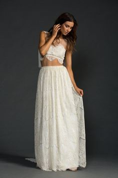 This lace and gold thread mermaid-inspired dress from Grace Loves Lace.