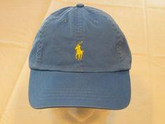 Mens Polo Ralph Lauren hat cap golf casual Jewel Blue 4331004 adjustable classic…
