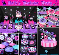 INSTANT DOWNLOAD diy Rockstar Girl Birthday por CupcakeExpress, $4.00