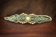 Papillon macramé pièce laiton bracelet tribal par MacramaniaShop
