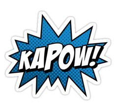 Another comic book word star. Just like bazinga but this time is kapow. Get the bad guys with one big KAPOW! • Also buy this artwork on stickers and apparel.