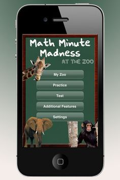 Math Minute Madness - a nice iOS app for learning addition, subtraction, multiplication, and division