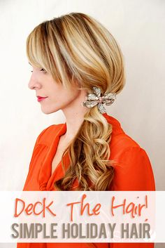 Simple Holiday Hair  #howdoesshe #holidayhairideas #easyhairdos howdoesshe.com