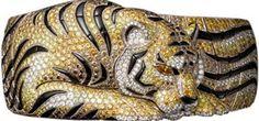 Diamond-set cuff bracelet by Cartier.