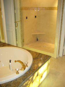 Pro #1958796 | GraniteWorks | Dallas, TX 75247 Master Bath Remodel, Glass Shower, Guest Bath, Corner Bathtub, Kitchen Remodel, Countertops, Dallas, Vanity Tops, Countertop