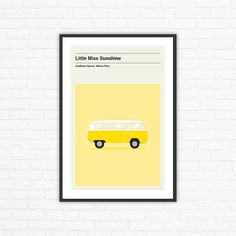 Little Miss Sunshine Minimalist Movie Poster Jonathan Dayton