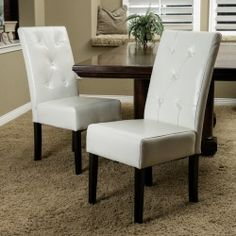 Gillian Ivory Leather Dining Chairs Set Of 2  Dining Chair Set Cool Ivory Leather Dining Room Chairs 2018