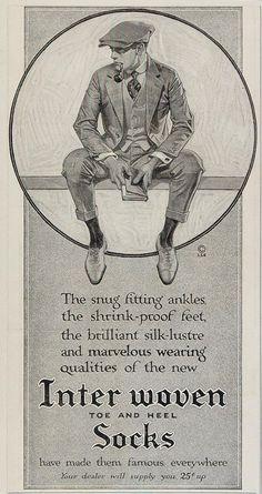 J. C. Leyendecker 1915 Interwoven Socks