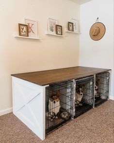 Dog Crate Table, Wood Dog Crate, Dog Crate Furniture, Diy Dog Crate, Furniture Dog Kennel, Dog Crate Cover, Dog Kennel Cover, Diy Dog Kennel, Pet Kennels