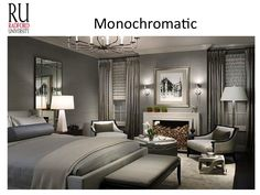 room uses the color gray to show the monochromatic color scheme more
