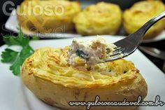 A dica para o #almoço de hj ou para o domingo são as Batatas Recheadas com Bacalhau, são perfeitas, deliciosas e fáceis! #Receita aqui: http://www.gulosoesaudavel.com.br/2012/08/06/batatas-recheadas-bacalhau/