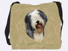 Old English Sheepdog Shoulder Bag Dog Tote Bag, Old English Sheepdog, Beige Background, Shopping Bag, Reusable Tote Bags, Shoulder Bag, Gifts, Pose, Cushions