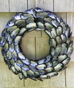 Coastal-Inspired Shell Wreath
