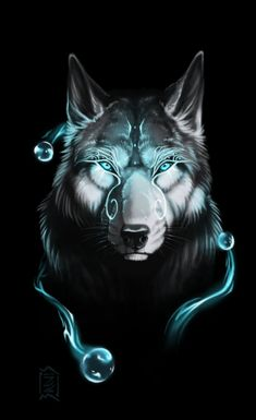 Art Discover Victor Bezerra Blue Wolf I like the way in which the colours combine with the Anime Wolf Wolf Spirit Spirit Animal Fantasy Wolf Fantasy Art Fantasy Creatures Mythical Creatures Animal Drawings Cool Drawings Anime Wolf, Fantasy Wolf, Fantasy Art, Fantasy Creatures, Mythical Creatures, Tier Wolf, Wolf Artwork, Wolf Spirit Animal, Wolf Wallpaper