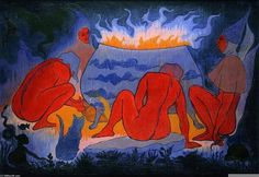Paul Ranson「Witches by Fire!」