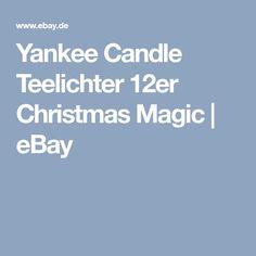 Yankee Candle Teelichter 12er Christmas Magic | eBay