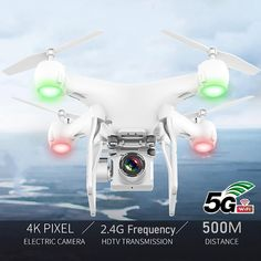 RC Drone Quadcopter UAV with Camera 4K Professional Wide-Angle Aerial Photography Long Life Remote Control Fly Wing Machine Toy Frequency, Rc Drone With Camera, Car Accessories For Guys, Professional Drone, Hobby Electronics, Electric, Electronic Toys, Drone Quadcopter, Remote Control Toys