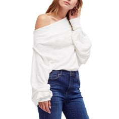 8a57bf3610429f Free People Skyline Off-The-Shoulder Thermal Sweater Women - Tops - Macy s