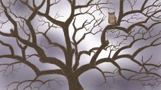 A Tree, which mislaid it's beauty by shedding leaves. Even then a bird likes it :) My Digital Art work.