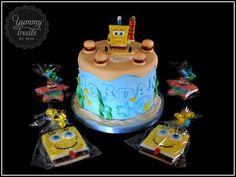 Spongebob/Humberger Cake!  Cake by YummyTreatsbyYane