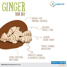 Power up your body & mind with a dash of ginger! #HealthTips