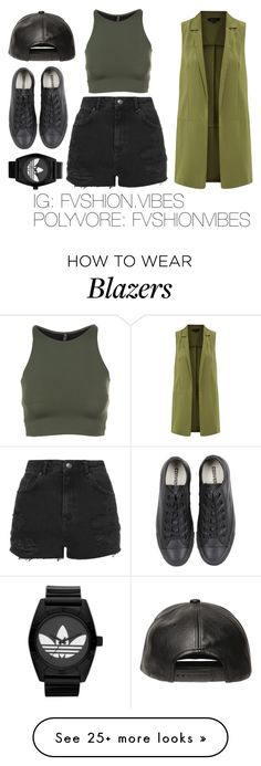 """Untitled #81"" by fvshionvibes on Polyvore featuring adidas, Onzie, Topshop, D by D and Converse"