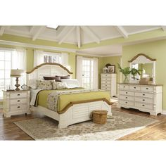 Deal #13 - Wildon Home Panel Bedroom Collection $2,186.98 FREE shipping Create a beautiful focal point for your master bedroom with the stunning Oleta bedroom collection. The arched shutter headboard with simple molding and low-profile footboard adds to the classic country cottage style. Matching pieces are finished in country. http://thebedroomstoreatjewellsonlinemall.blogspot.com