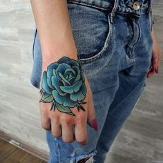 Blue Rose Tattoo on