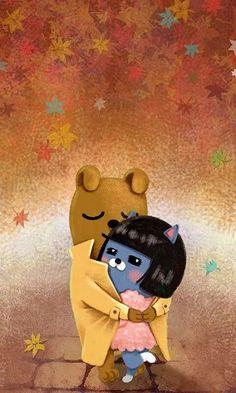Apeach Kakao, Kakao Friends, Cartoon Painting, Cute Designs, Scooby Doo, Minions, Winnie The Pooh, Comic Art, Disney Characters