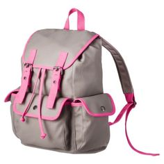 Mossimo Supply Co. Backpack with Neon Trim - Grey  I want this but with the mint green trim