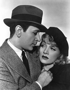 """""""Manpower"""" George Raft and Marlene Dietrich. 1941/Warner Bros."""