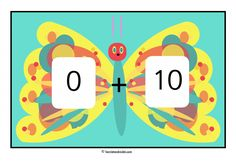 Number bonds 0-10 The Very Hungry Caterpillar Style