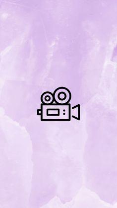 INSTAGRAM STORY COVER : VIDEO CAMERA WWW.INSTAGRAM.COM/JORDANRENIE Purple Highlights, Story Highlights, Emoji Wallpaper, Wallpaper Backgrounds, Wallpapers, Instagram Logo, Instagram Story, Hight Light, Ig Captions