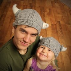 Viking Hat Crochet Pattern by Easymakesmehappy, via Flickr