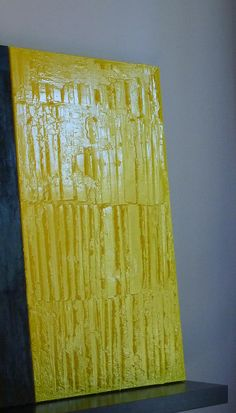 JR Jonathan Roy artiste peinture sculpture : Jaune, 2014