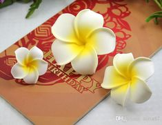 4-11CM Hawaii Frangipani Artificial Flowers PE Foam Plumeria Flower For Jewelry Brooch DIY Hair Accessories And Wedding Party Decoration from Alina87,$0.16 | DHgate.com