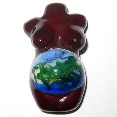 Lampworked Glass Bead Mother Earth Goddess by jessieglass on Etsy, $125.00
