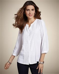 Pretty Peasant Anabelle II Top - Chico's