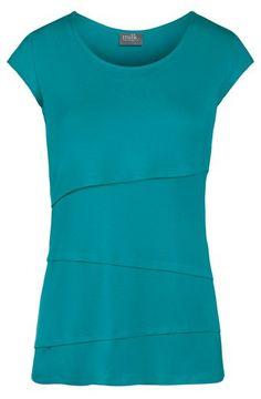 Asymmetrical Tiered Nursing Top. $44 www.milkandbaby.com #breastfeeding