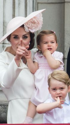 Kate Middleton as a mom: Her sweetest moments with Prince George and Princess Charlotte - HELLO! Baby Prince, Prince And Princess, Princess Kate, Princess Charlotte, George Of Cambridge, Duchess Of Cambridge, Kate Middleton Mother, Trooping The Colour, Prinz William