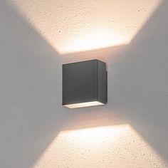 LED-Wandleuchte 5W, warmweiß, graphitgrau, Außenbereich - LED-Wandleuchten