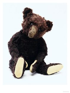 Teddy Bear Black, a Rare Black Steiff Bear, around 1912