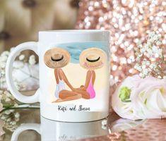 Custom bridesmaid mug. Will you be my bridesmaid? Wedding gift for bride. Beach wedding mug. Bridesmaid Mug, Will You Be My Bridesmaid, Bridesmaid Proposal, Best Friend Mug, Friend Mugs, Best Friend Gifts, Wedding Mugs, Wedding Gifts For Bride, Bride Gifts