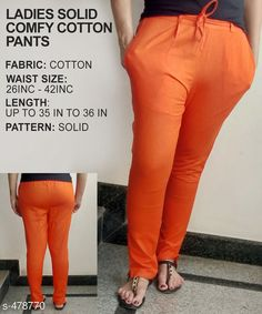 Trousers & Pants Gorgeous Cotton Pant Fabric: Cotton Waist Size: 26 in 28 in 30 in 32 in 34 in 36 in 38 in 40 in 42 in Length: Up to 35 in to 36 in Type: Stitched Description: It Has 1 Piece of Pant Pattern: Solid Country of Origin: India Sizes Available: 26, 28, 30, 32, 34, 36, 38, 40, 42   Catalog Rating: ★3.8 (318)  Catalog Name: Ladies Solid Comfy Cotton Pants CatalogID_52472 C79-SC1034 Code: 763-478770-9921